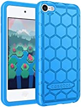 Fintie Silicone Case for iPod Touch 7 iPod Touch 6 iPod Touch 5 - (Honey Comb Series) Impact Shockproof Anti Slip Soft Protective Cover for iPod Touch 7th 6th 5th, Blue