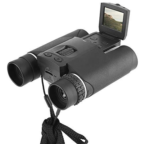 Cámara de binoculares Digitales, 1.5 Pulgadas LCD 10X25 Zoom Telescopio HD Cámara de Video Grabadora de Fotos Soporte de grabación Tarjeta de Memoria para Turismo Caza