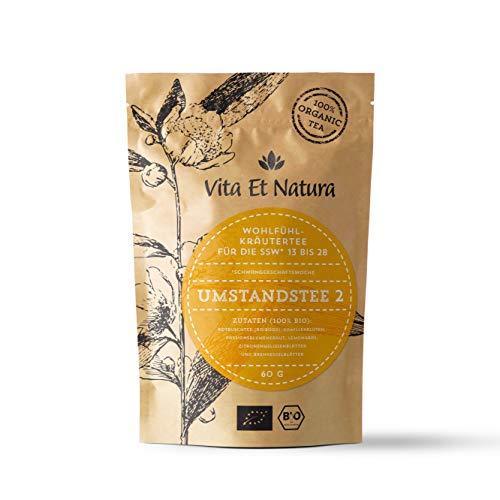 Vita Et Natura BIO Umstandstee 2 - Schwangerschafts-Tee für die 13. bis 28. Woche - 100 % biologischer Wohlfühl-Tee - 60 g loser Kräuter-Tee