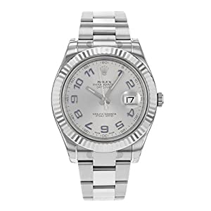 Rolex Datejust II Automatic Rhodium Dial Stainless Steel Mens Watch 116334RBLAO image