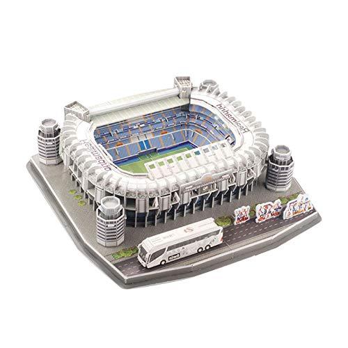 A/B Estadio Santiago Bernabeu Modelo de Rompecabezas 3D, Juego de Rompecabezas de construcción de estadios de Rompecabezas 3D niños Adultos Regalo