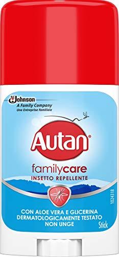 Autan Family Care Stick, Insetto Repellente e Antizanzare Tigre e Comuni, Lozione con Aloe Vera e Camomilla, 1 Confezione da 50 ml