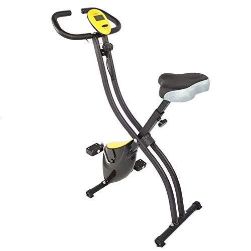 Bicicleta estática plegable Bicicleta ciclismo estacionaria Entrenador piernas Con pantalla LCD y 8 configuraciones magnetorresistencia entrenamiento resistencia ejercicio muscular-Negro 79x41.5x110cm