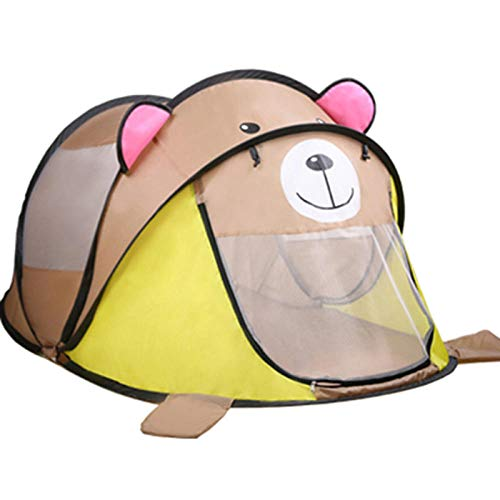 FDDHM Kids Play Tent Indoor and Outdoor Tent Pop Up Tent Anti-mosquito Play House Boy Girl Princess Dream Playhouse Foldable Children Play Tent with Carry Case - Grizzly