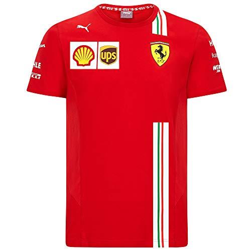 2020 Scuderia Ferrari F1 Team T-Shirts Vettel Leclerc in Herren Damen Kinder Größen