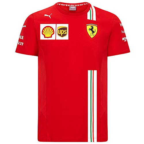 2020 Scuderia Ferrari F1 Team T-Shirts Vettel Leclerc in Herren-, Damen-, Kindergrößen, Ferrari F1 Team T-Shirt, Mens (XXL) Chest 120-124cm