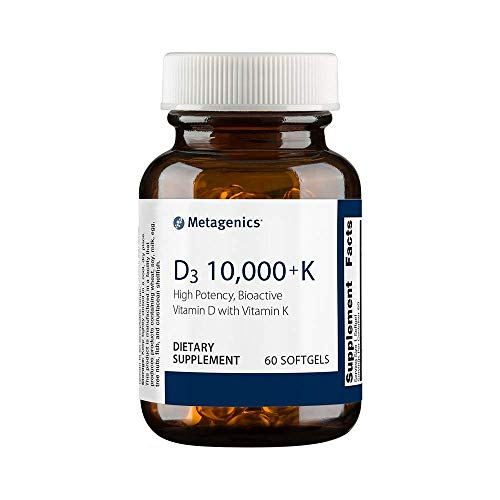 Metagenics - D3 10,000 with K2 - Vitamin D Supplement - 10,000 IU - Support for Bone, Cardiovascular, and Immune Health* | 60 Count