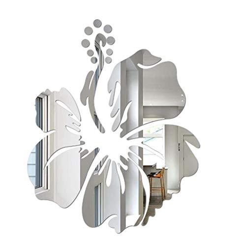 YWLINK 3D DIY Forma De La Flor AcríLico Etiqueta De La Pared Modernas Pegatinas De DecoracióN