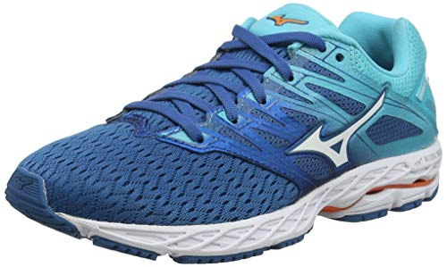 Mizuno Wave Shadow 2, Zapatillas de Running para Mujer, Azul (Blue Sapphire/White/Blue Curacao 21), 38 EU