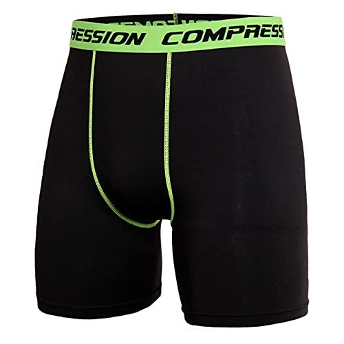 Mallas Cortas Para Correr de Secado Rápido Y Absorción Humedad Hombre Pantalones Cortos Leggings deportivos Que Absorben La Hombres de Color Sólido de Talla Grande