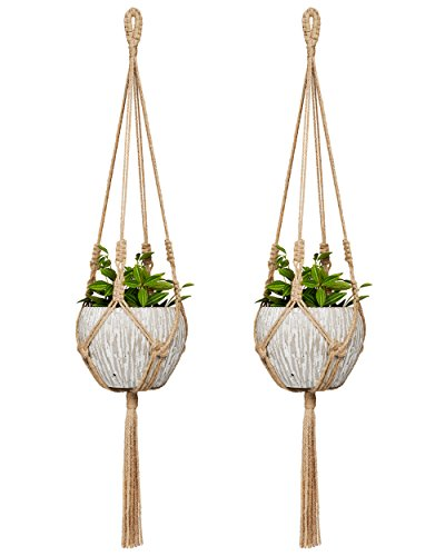 Mkono Small Macrame Hanging Planter