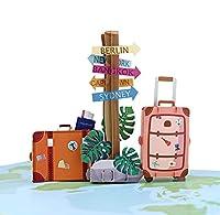 """DIE BESONDERE FALTKARTE mit 3D Überraschungseffekt beim Öffnen! Ob als Geldgeschenk oder als Urlaubsgutschein für einen Städtetrip, eine Kreuzfahrt, Fernreise, Hochzeitsreise oder Sprachreise – mit unserer Pop-Up Karte können Sie von Herzen eine """"Gut..."""