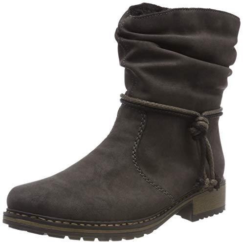 Rieker Damen Z6893 Kurzschaft Stiefel, Grau (Anthrazit 45), 42 EU