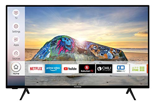 Techwood U40T52E 102 cm / 40 Zoll Fernseher (Smart TV inkl. Prime Video/Netflix/YouTube, 4K UHD mit Dolby Vision HDR/HDR 10 + HLG, Works with Alexa, Triple-Tuner, HD+)