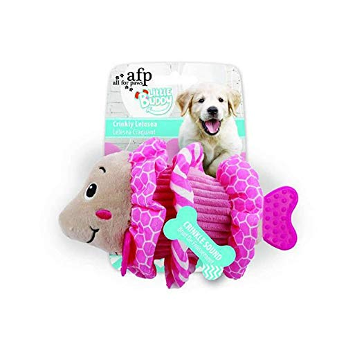 ALL FOR PAWS AFP4205 Jouet pour Chiots Little Buddy Pez Rose