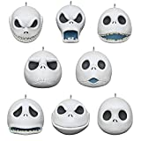 Hallmark Keepsake Ornaments 2020, Mini Disney Tim Burton's The Nightmare Before Christmas The Many Faces of Jack Skellington Porcelain, Set of 8