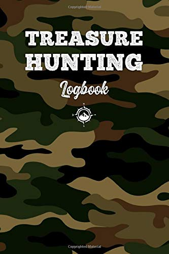 Treasure Hunting Log Book Journal Notebook Diary Planner - Green Camouflage: Geo Hunt Record with 120 Pages In 6
