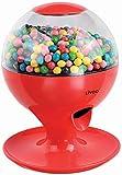 Dispenser per caramelle, dispenser per caramelle, gomme da masticare con sensore di movimento (funzionamento a batteria, coperchio rimovibile, rosso)