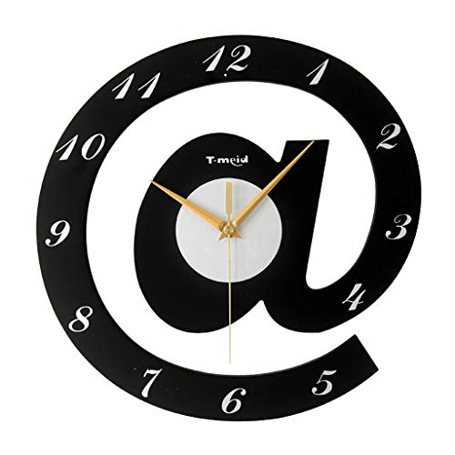 Q-HL Reloj de Pared Reloj de Pared de la Personalidad, Sala de Estar Reloj Creativo Moderno Moda de Dibujos Animados Mute MUJO Muerte Muerte Mujer (Color : Black)