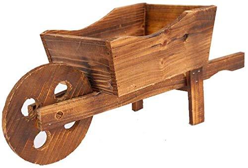 Multifunktion Holz Schubkarre Pflanzer Zier Holz Blumenwagen Wagen Ornament Garten Pflanzer für Garten Outdoor Patio Pflanze