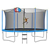 Merax 14FT Trampoline with Safety Enclosure Net, Basketball Hoop and...