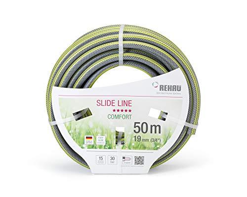 REHAU Gartenschlauch Slide LINE 3/4 Zoll 50m: sehr gleitfähig damit schmutzabweisend + Abriebfest, umweltfreundlich + schadstofffrei,