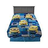 Franco Kids Bedding Blanket, Twin/Full Size 62' x 90', Despicable Me Minions