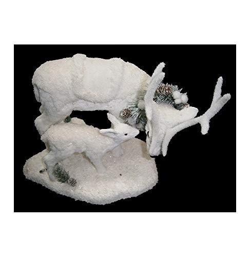 AC-Déco Figurine en Forme De Rennes - Blanc