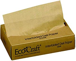 Bagcraft Papercon 016008 EcoCraft Interfolded Dry Wax Deli Paper, 10-3/4