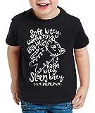 style3 Soft Kitty Camiseta para Niños T-Shirt Sheldon, Color:Negro, Talla:128