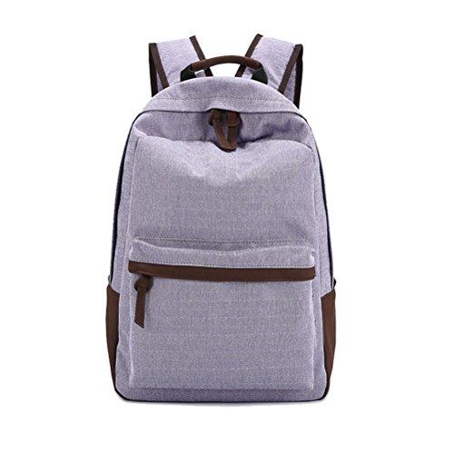 Umily Multi-Función Moda Mochila Bolsa Escolar Tipo Casual Bonita de Lona de Viaje Mochila-Luz violeta