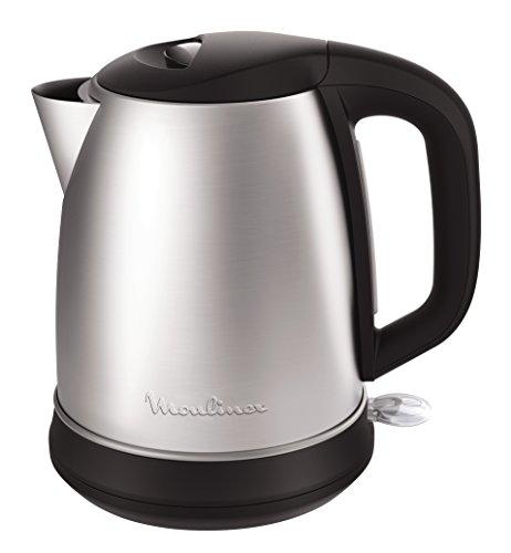 Moulinex Subito Select BY550D Hervidor Electrico 2400 W con 1.7 L de Acero Inoxidable, indicador de Nivel de Agua, Tapa con bisagras de Apertura, Filtro antical extraible y de Color Negro, 1.7 litros