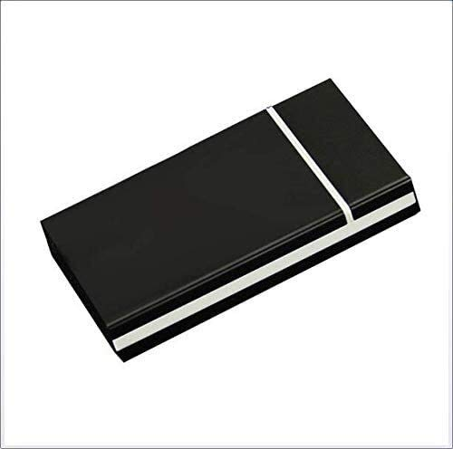BECCYYLY Caja de Cigarrillos Caja de Cigarrillos Ultrathin portátil Cubierta Cubierta AUTOMÁTICA Hombres Mujer Caja de Cigarrillos de Aluminio Largo Puede acomodar 20 Cajas de Cigarrillos