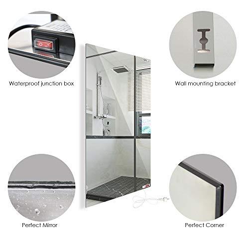 Infrarotheizung mit Thermostat Spiegelheizung Spiegel Heizung 450W Infrarot Wandheizung Bild 3*