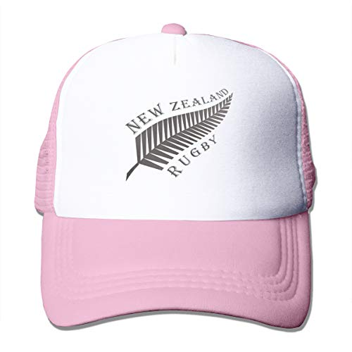 New Zealand - Gorra de Rugby Ajustable para Rugby, Color Negro Rosa Rosa Taille Unique
