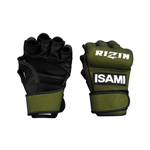 isami イサミ RZ-001 RIZIN オープンフィンガーグローブ 格闘技 武道 空手 キックボクシング 総合格闘後 (グリーン, M)