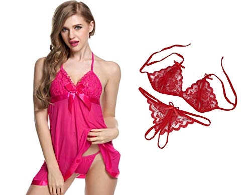 Lovie's Women Baby Doll Sleepwear with Panty and Lingerie Set...