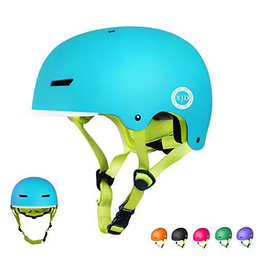XJD Toddler Helmet Kids Bike Helmet Multi-Sport Cycling Helmet Adjustable Bicycle Helmet for Kids Safety Helmet Child Skateboard Helmet Inline Skating Scooter 8-13 Years Old Youth Helmet (Blue, M)