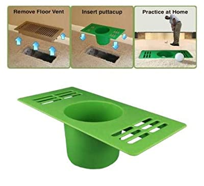 Shan-S Golf Indoor Exercise Ball Cup Fitness Products Home Golf Practice Hole Cup Putting Putter Yard Garden Backyard Training Equipment,Practice Hitting and Chipping for Driving Range
