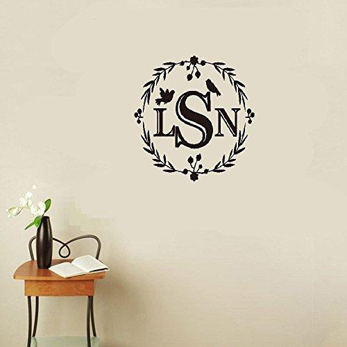 Pegatinas decorativas de pared removibles personalizables nombre dormitorio decoración del hogar