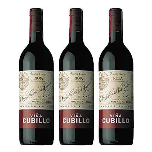 Vino tinto Viña Cubillo Crianza de 75 cl - D.O. La Rioja - Bodegas R.Lopez de Heredia (Pack de 3 botellas)