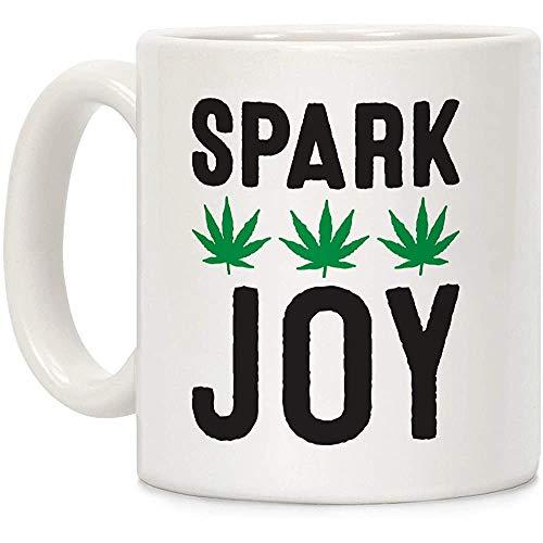 Spark Joy Weed - Taza de café de cerámica