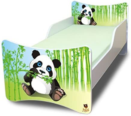 Best For Kids Children s Bed with Foam Mattress with TUV CERTIFIED 90x180 PANDA