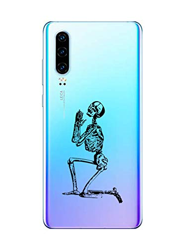 Oihxse Funda Huawei Nova 5/Nova 5 Pro, Ultra Delgado Transparente TPU Silicona Case Suave Claro Elegante Creativa Patrón...