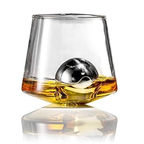 SO-buts - Cubos de hielo de acero inoxidable reutilizables de metal para enfriar whisky y mantener el frío, bebidas frías, whisky, cubitos de hielo (C-55 mm)