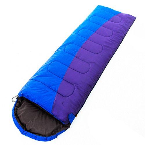 Yy.f Camping En Plein Air Randonnée Escalade Facilement Comprimé Sac De Couchage En Coton Enveloppe Compacte. Adultes Et Enfants,Blue-(190+30)*75Cm(1.8Kg)