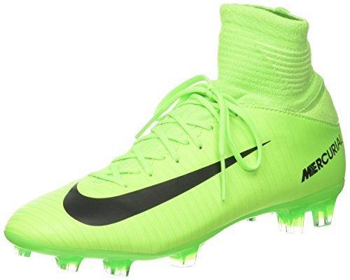 Nike Unisex-Kinder Mercurial Superfly V FG Fußballschuhe, Grün (Electric Green/Flash Lime/White/Black), 37.5 EU