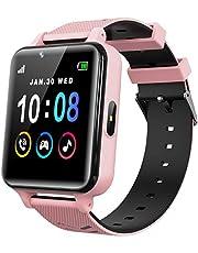 Kindersmartwatch voor meisjes en Jongens, met Games, Muziekspeler, Camera, HD Touchscreen, Oproep, Telefoon, SOS, Oproep, Spel, Smartwatch voor Kinderen (Roze)