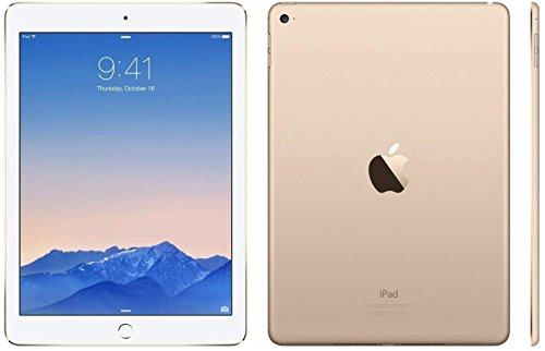 Apple iPad Air 2 MH1J2LL/A (128GB, Wi-Fi, Gold) NEWEST VERSION (Renewed)