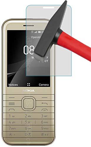 EnWi I 3X Panzerfolie 9H Hybridglas KLAR passexakt für Nokia 8000 4G - Displayschutzfolie Schutzhülle